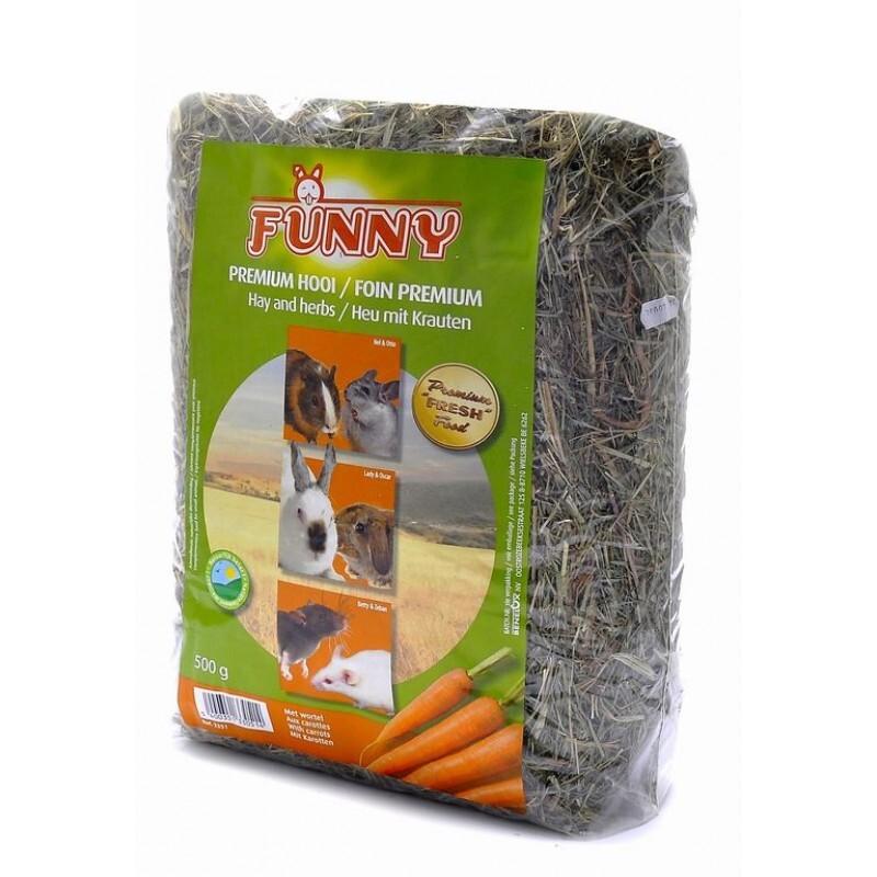 Benelux корма Сено с морковью (Hay with carrots) 3351, 0,500 кг, 31365