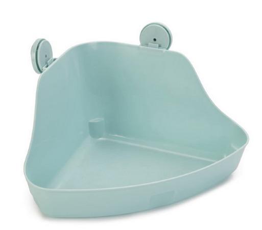 Beeztees 811121 Туалет дгрызунов угловой, мятный цвет 32*22*14,5см