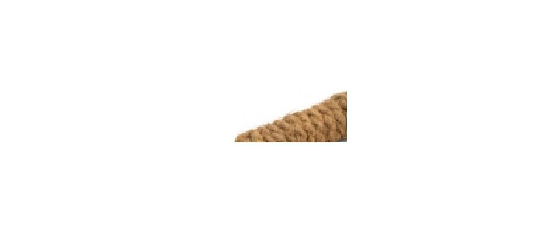 Beeztees 811097 Игрушка дгрызунов Палочки деревянные обмотанные кокосовой веревкой 3шт*9*9*10см