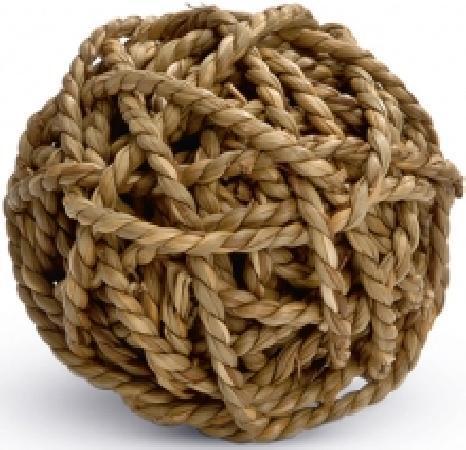 Beeztees 825700 Игрушка дгрызунов Мячик из плетёной соломы 8см