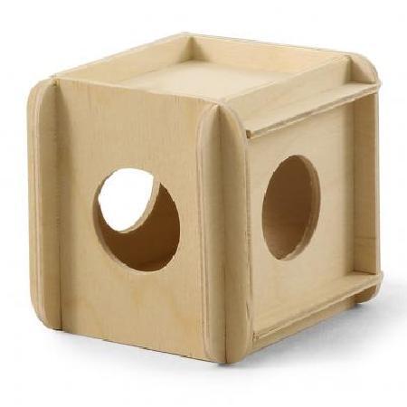 Gamma Игрушка-кубик для мелких животных деревянный для грызунов, фанера разноцветный 11,5x10x10 см