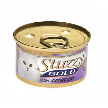 Stuzzy Gold влажный корм для взрослых кошек всех пород, мусс с кролик 85 гр
