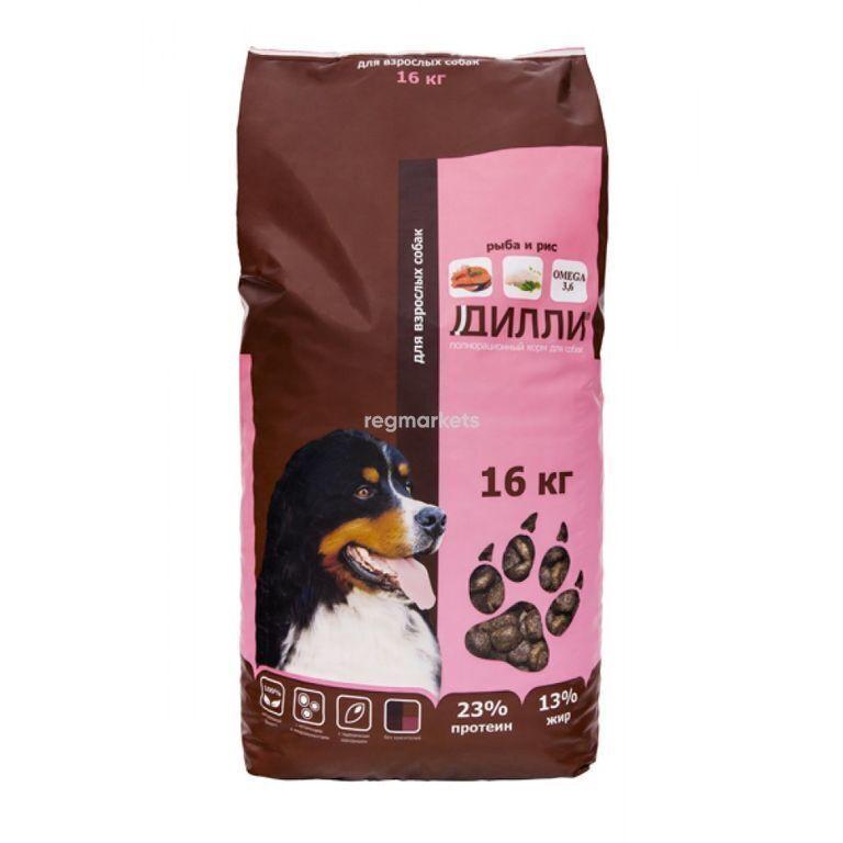 Корм для собак Дилли (рыба и рис) 16 кг