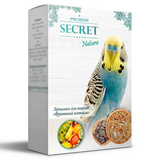 Secret natura зерносмесь для Попугаев Фруктовый коктейль 500гр