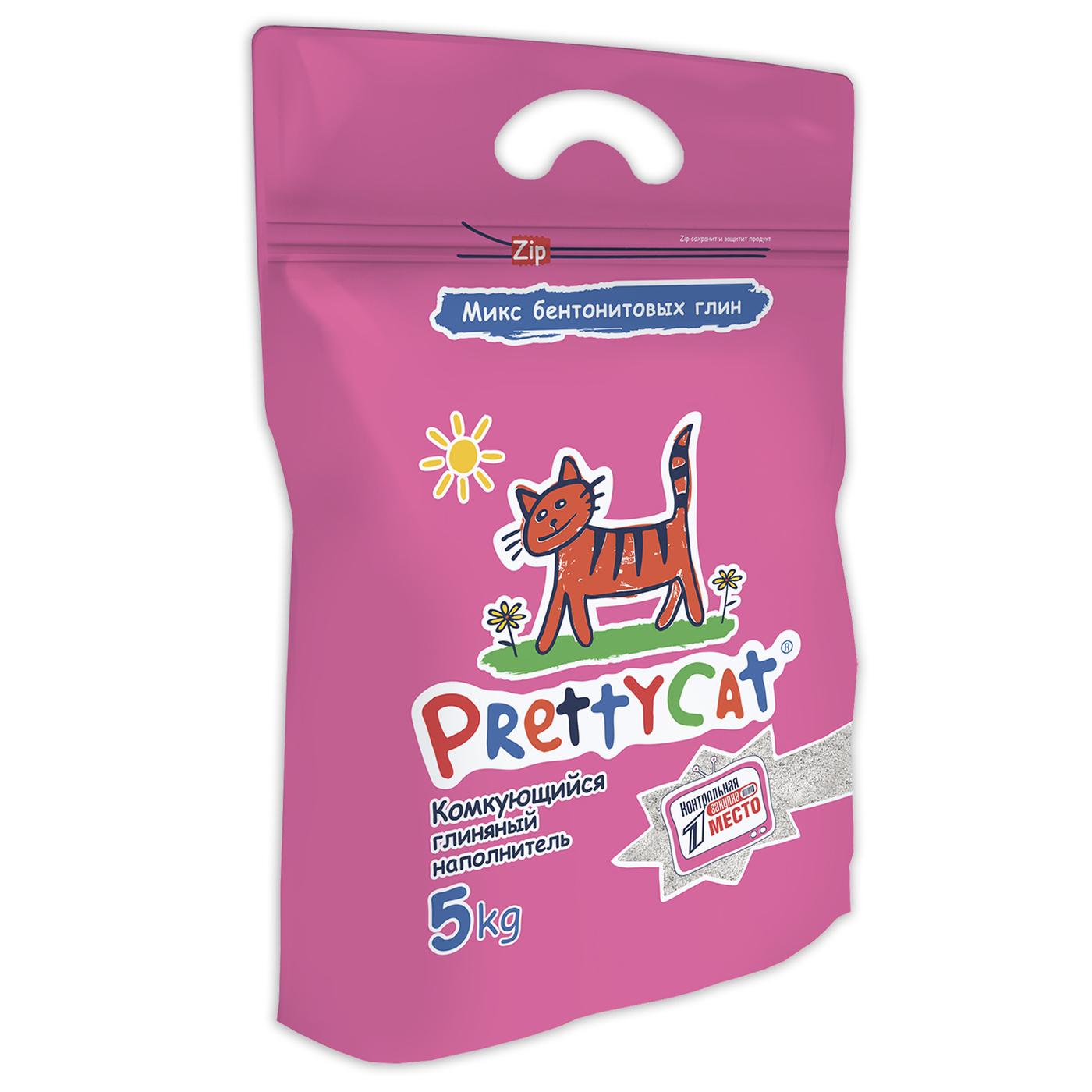 PrettyCat Euro Mix комкующийся наполнитель для кошачьих туалетов 5 кг