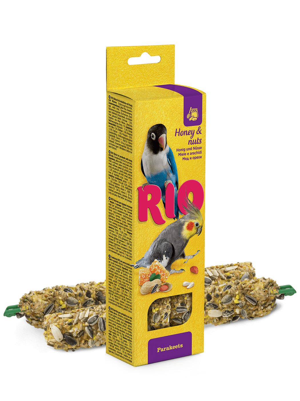 Rio палочки для средних попугайчиков, с медом и орехами 150 гр