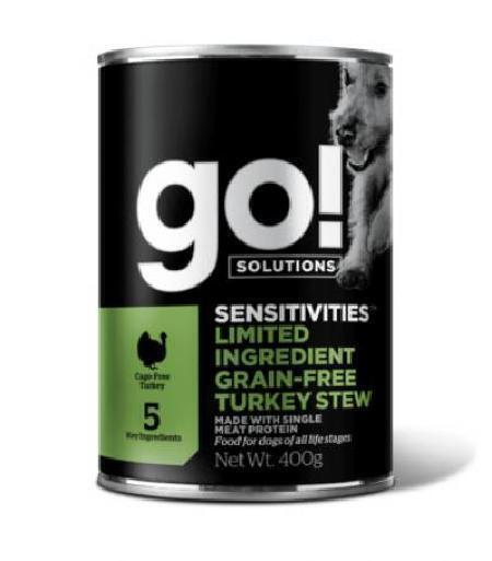 GO! влажный корм для собак, беззерновой, с индейкой 400 гр