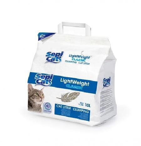 SEPICAT Облегченный комкующийся наполнитель классический Натуральный, 20л (LightWeight Classic 20L Natural) 9H015S53, 12,000 кг, 20746