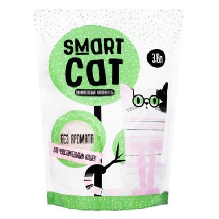 Smart Cat наполнитель Силикагелевый наполнитель для чувствительных кошек (без аромата), 3,8л, 1,660 кг, 24570