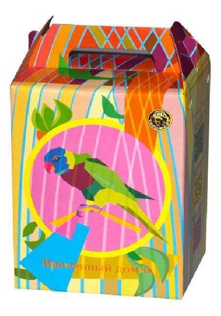 Переноска картонная ВАКА для птиц 1100