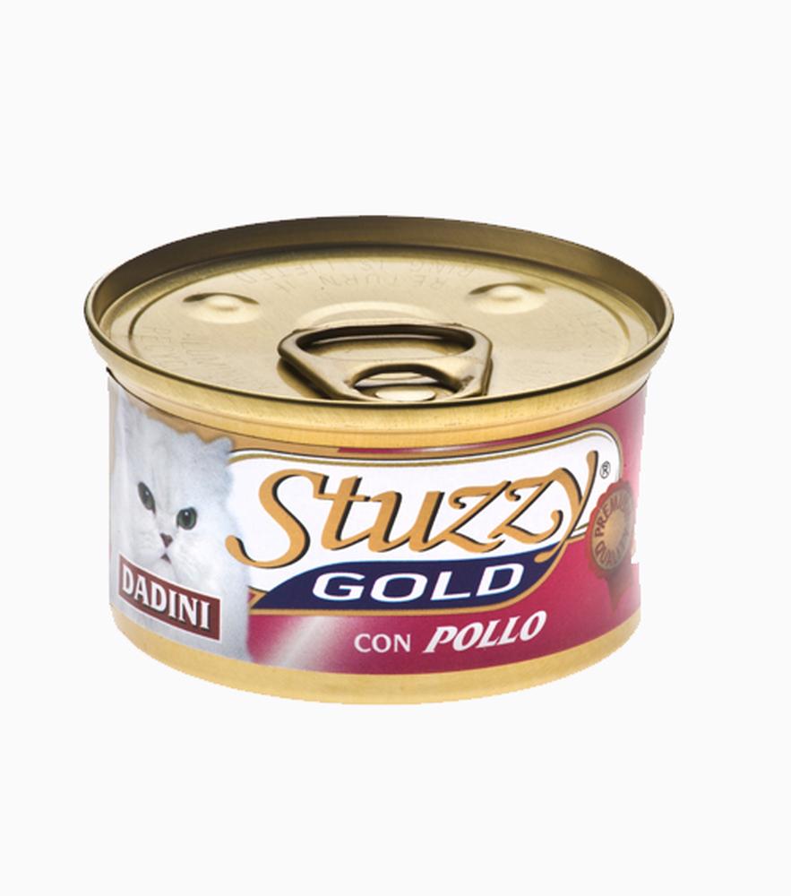 Stuzzy Gold влажный корм для взрослых кошек всех пород, кусочки курицы 85 гр
