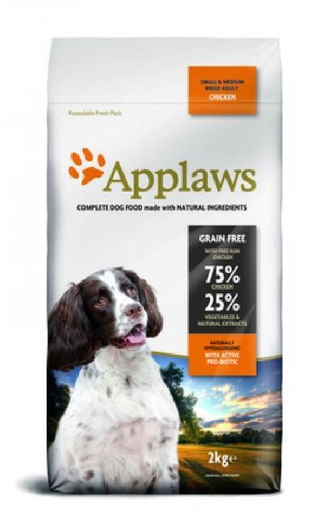 Applaws корм для взрослых собак малых и средних пород, беззерновой, курица и овощи 7,5 кг