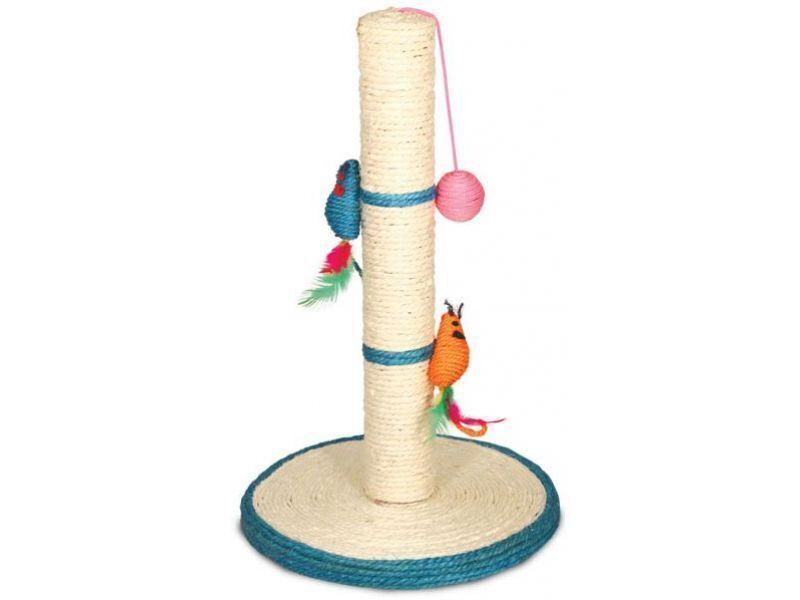 485NT Когтеточка на подставке с большими мышами и шариком, 50см