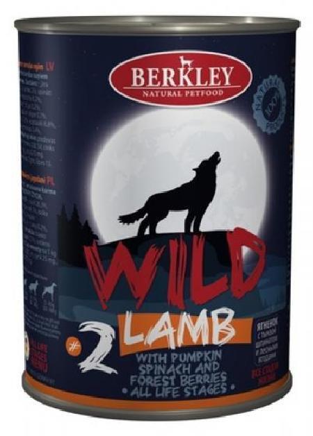 Беркли 75081 Wild кон.длЯ собак обак №2 Ягненок с тыквой, шпинатом и лесными ягодами 400г