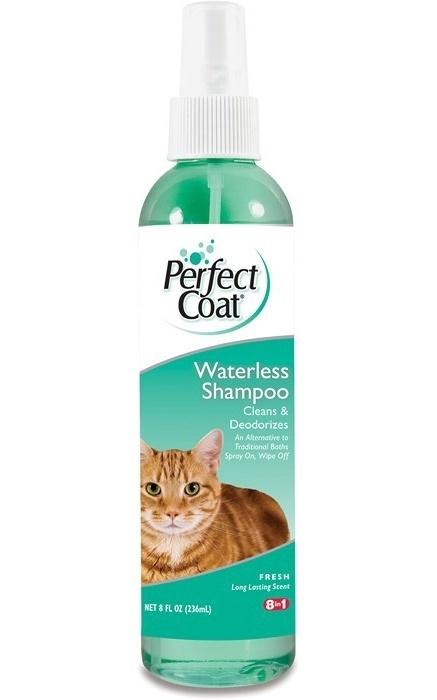 8 in 1 Шампунь не требующий смывание для кошек всех пород и возрастов 236 мл