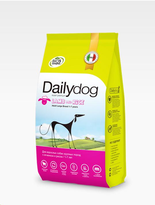 Dailydog ADULT MEDIUM BREED Lamb and Beef 20кг - корм для взрослых собак средних пород с ягненком и говядиной 20кг