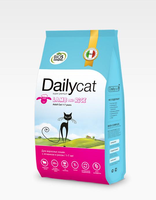 Dailycat ADULT Lamb and Rice 0,4кг - корм для взрослых кошек с ягнёнком и рисом 0,4кг