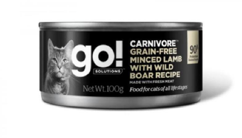 GO! влажный корм для кошек, беззерновой, с рубленым мясом ягненка и дикого кабана 100 гр