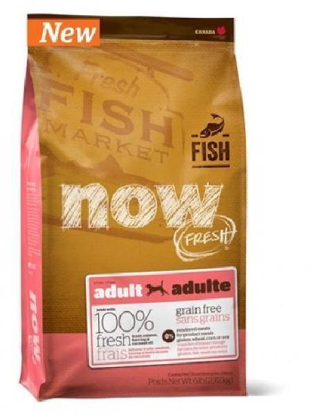 NOW Fresh корм для взрослых собак всех пород, деликатное пищеварение, форель и лосось 2,72 кг