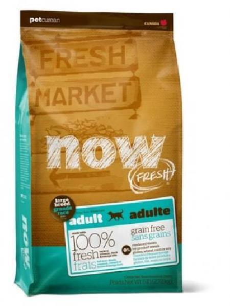 NOW Fresh корм для взрослых собак крупных пород, беззерновой, индейка, утка и овощи 11,35 кг