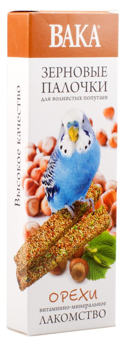 Зерновые палочки ВАКА для волнистых попугаев орехи 2шт.