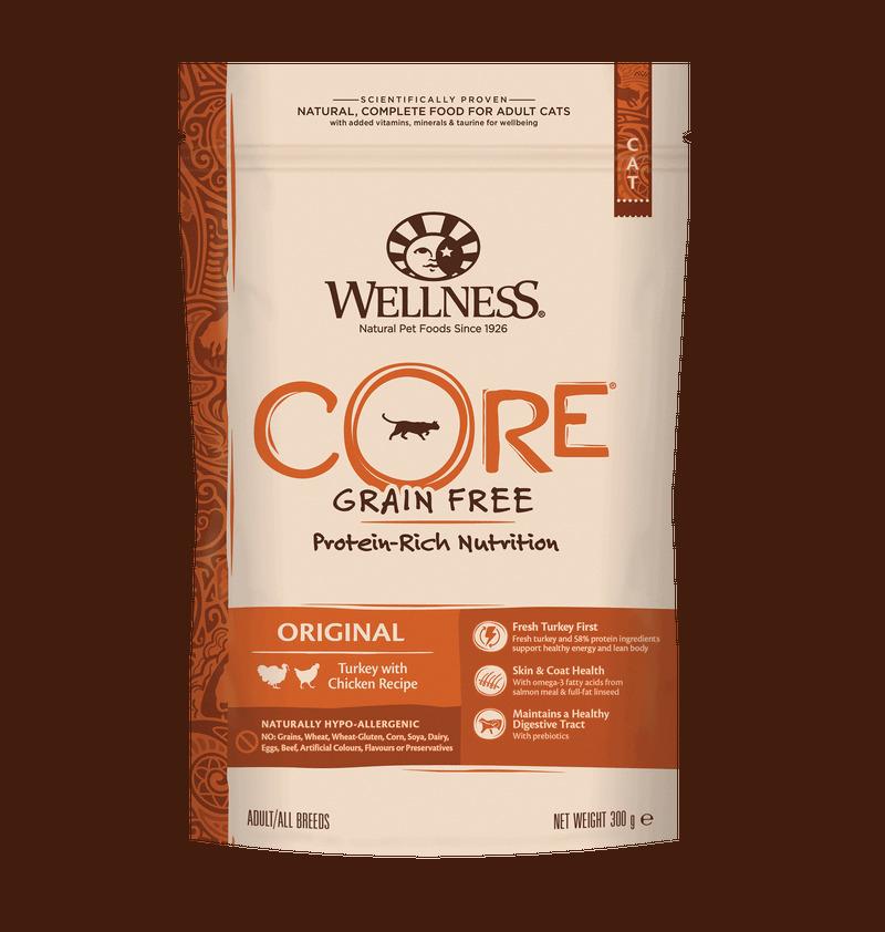 Wellness CORE корм для взрослых кошек с индейкой и курицей 300 гр