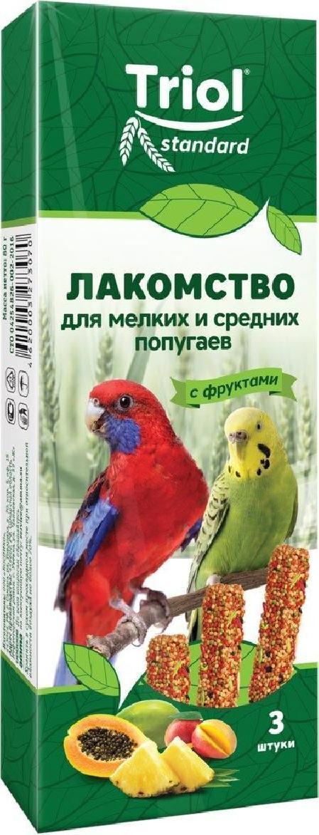 Палочки для мелких и средних попугаев с ФРУКТАМИ Триол standart,3шт,115гт