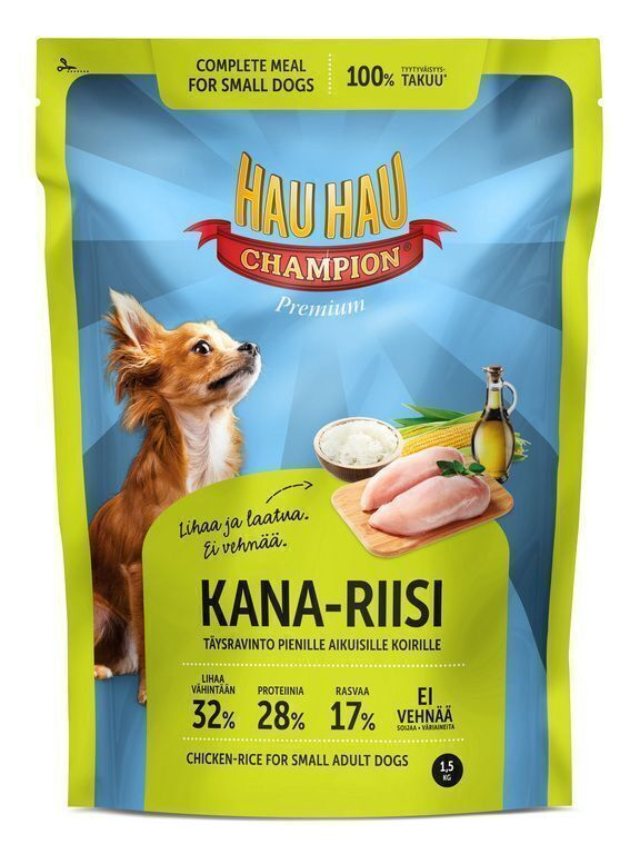 Hau-Hau Champion Chicken- Rice Small dog 1,5кг корм для собак мелких пород курица с рисом 18