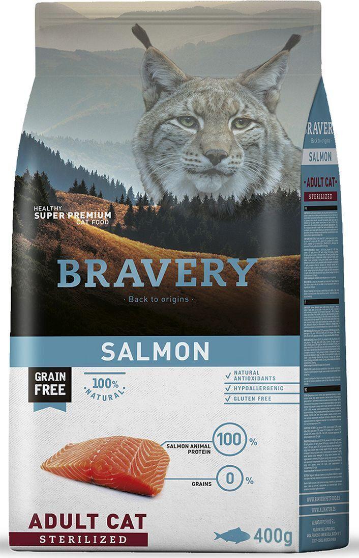 Bravery cat salmon sterilized корм для Стерилизованных кошек Лосось 400гр