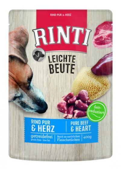 [119.92443]  Rinti LEICHTE BEUTE Пауч желе 400гр Говядина и птичьи сердечки длЯ собак обак