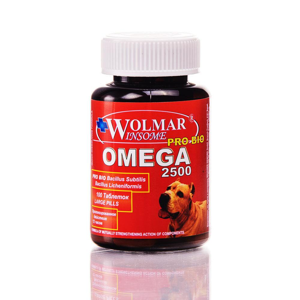 Wolmar Winsome Pro Bio Omega 2500 полифункциональный комплекс для собак 100 таблеток, 700100378