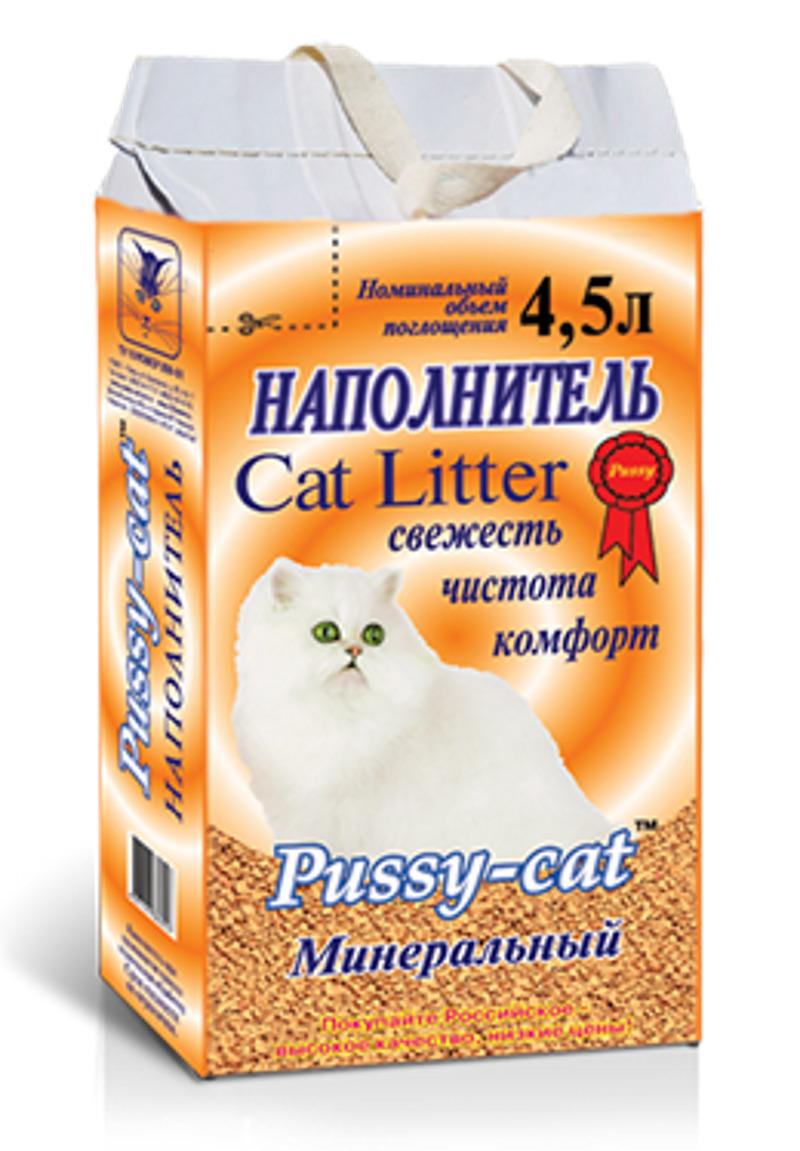 Pussy-Cat минеральный наполнитель 3 кг