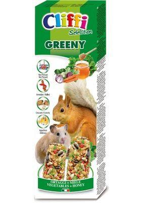 Cliffi (Италия) Лакомство для Хомяков и белок: палочки с овощами и медом  (Sticks hamsters and squirrels with vegetableas and honey) PCRA221, 0,110 кг, 31321