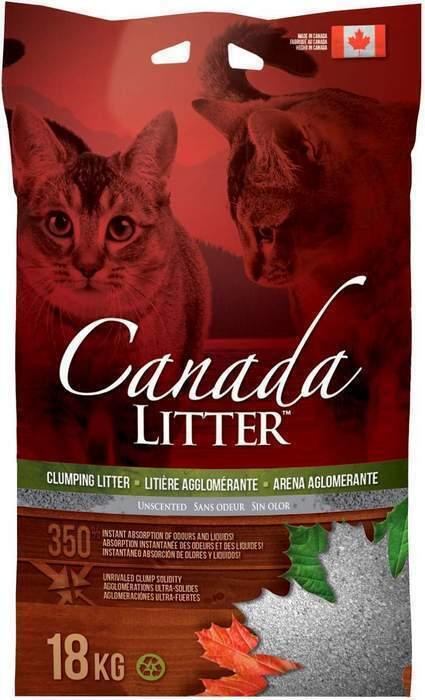 Canada Litter Запах на замке минеральный комкующийся наполнитель минеральный без запаха 18 кг