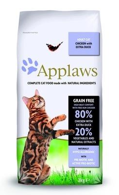 Applaws корм для взрослых кошек всех пород, беззерновой, курица, утка и овощи 2 кг
