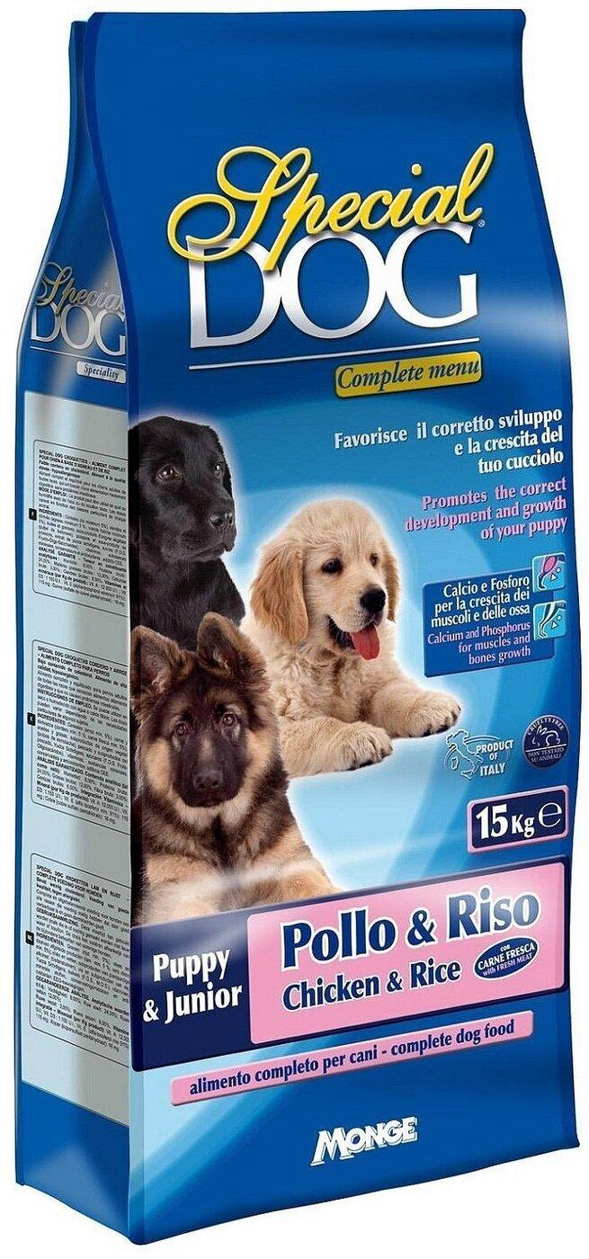 Special Dog корм для щенков курицарис 15 кг
