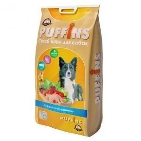 Puffins корм для собак, Курица по-домашнему 15 кг