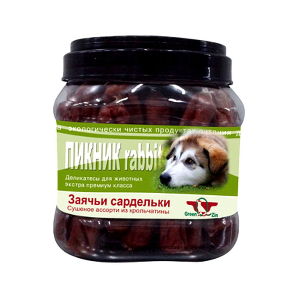 GR.QZIN д/с ПИКНИК 2  (сушеные колбаски из кролика в натуральной оболочке) 750 гр 6839  , 34981