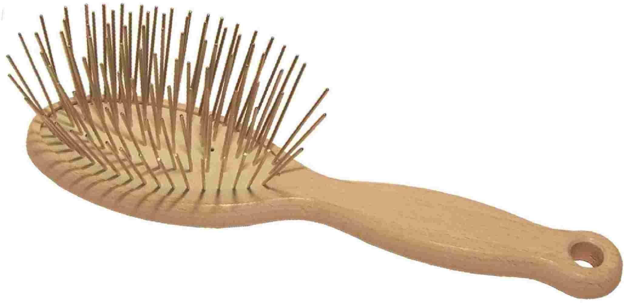 1 All Systems Pin brush массажная щетка овальная зубцы 35 мм (бел.)