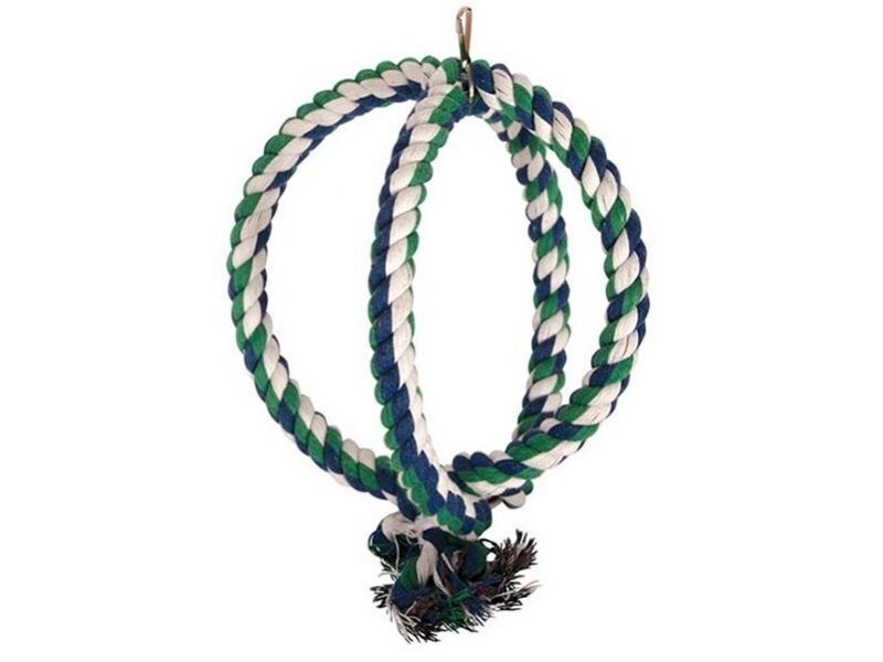 0247XJ Двойное верёвочное кольцо для птиц, 30см