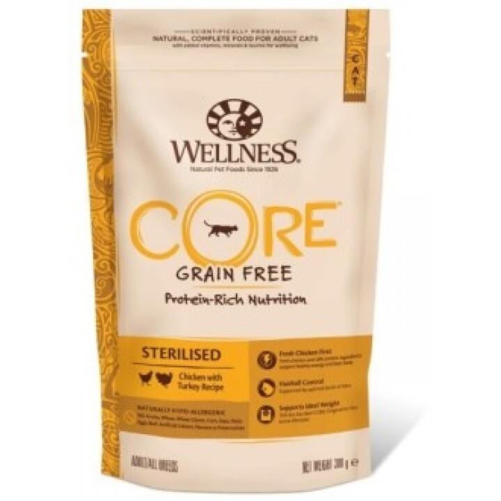 Wellness CORE корм для кастрированных котов и кошек с курицой и индейкой 300 гр
