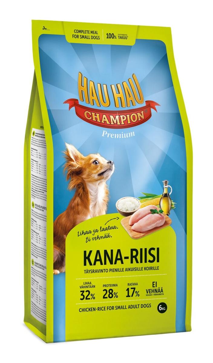 Hau-Hau Champion Chicken- Rice Small dog 6кг корм для собак мелких пород курица с рисом