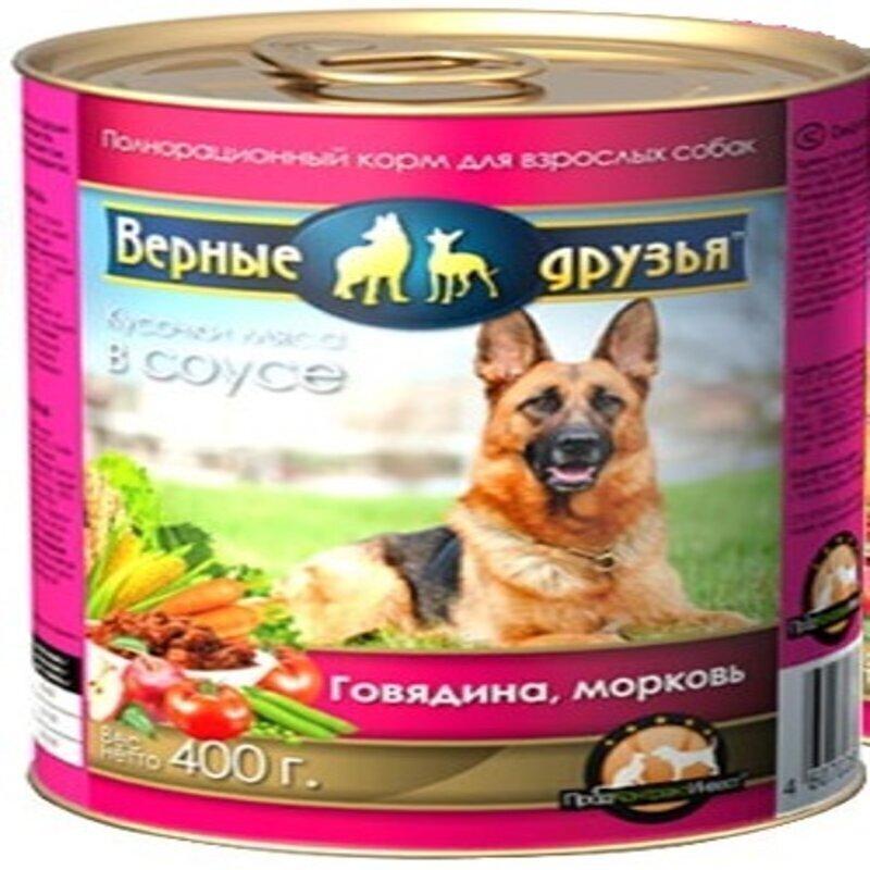 Верные друзья консерв. длЯ собак 415г говядина и морковь (120)