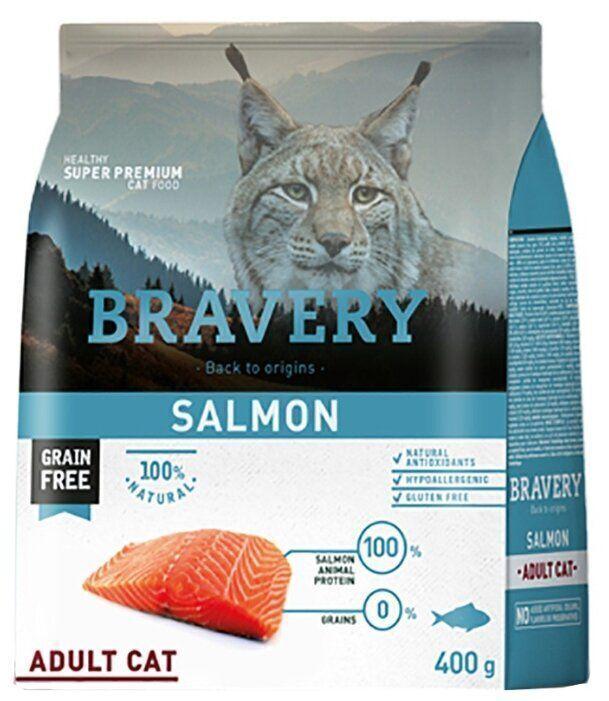 Bravery cat salmon корм для кошек Лосось 400гр