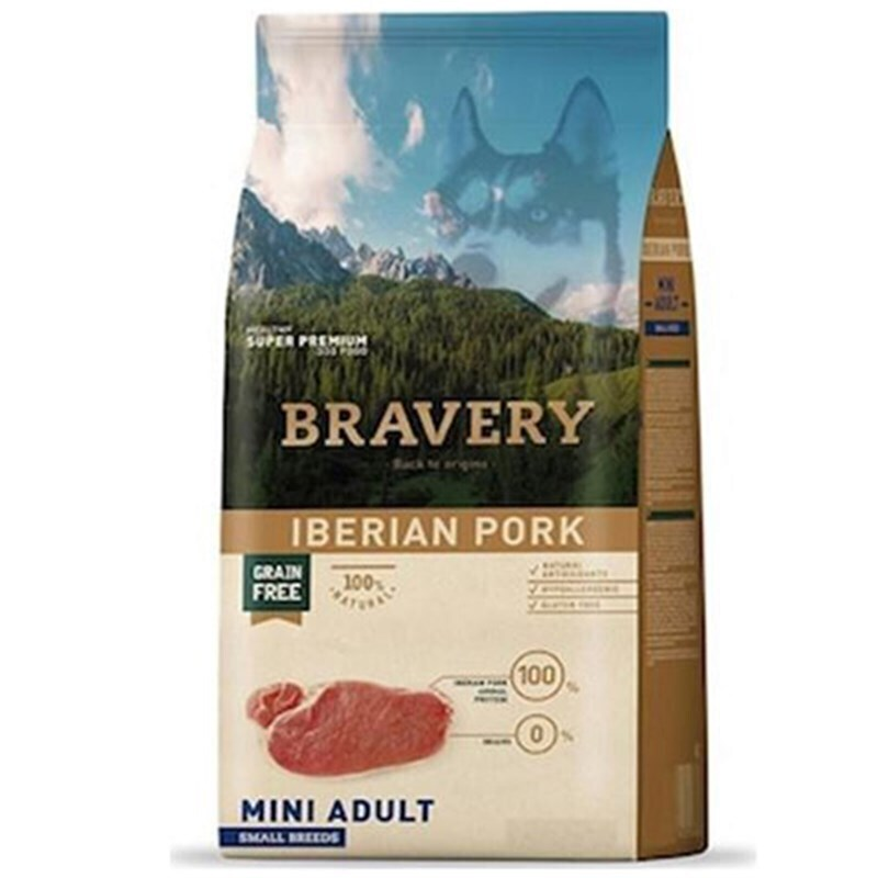 Bravery iberian pork small breeds корм для собак Мелких пород Постная Свинина 2кг