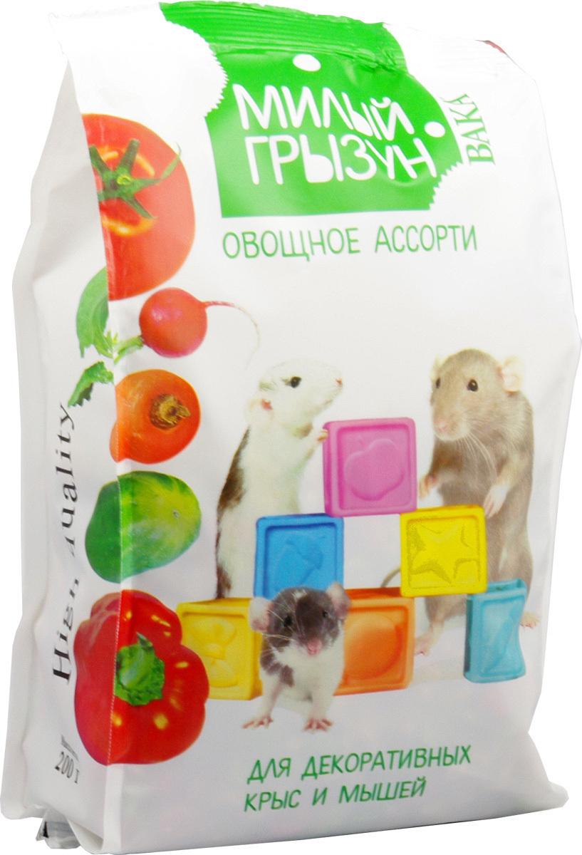 Вака High Quality Милый грызун овощное ассорти ддекоративных крыс и мышей,200гр. 110