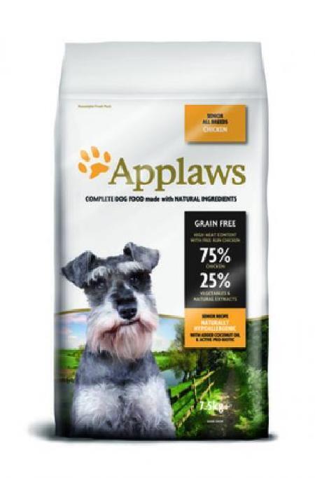 Applaws корм для пожилых собак всех пород, беззерновой, курица и овощи 7,5 кг