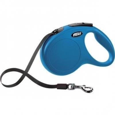 Flexi Classic рулетка-ремень M (до 25кг), синий