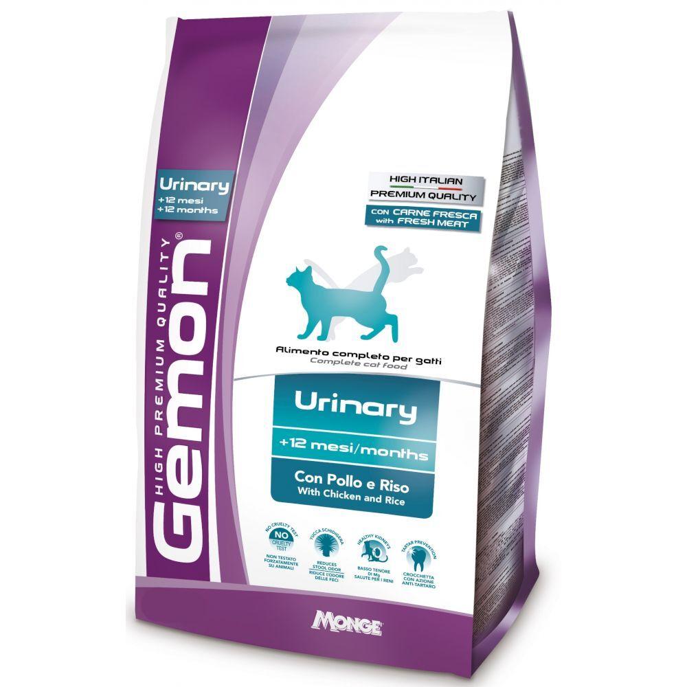Gemon Cat Urinary корм для профилактики мочекаменной болезни для взрослых кошек с курицей и рисом 1,5кг