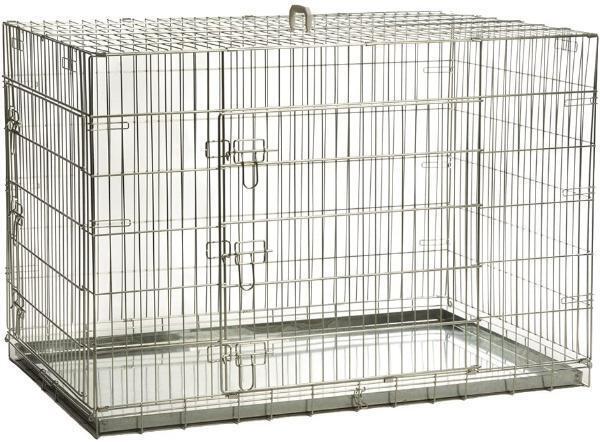 Beeztees 715803 Клетка для собак оцинкованная с 2-мя дверцами черная 89*60*66см
